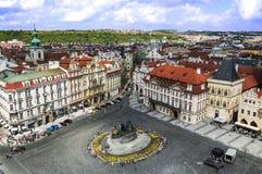 布拉格,捷克- 2015年5月:布拉格老镇中心 免版税库存图片
