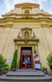 布拉格,捷克- 2015年8月13日, :进口到城堡大教堂、beautiul雕象和装饰里 图库摄影