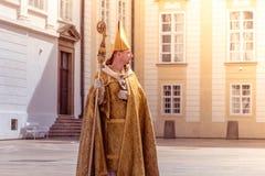 布拉格,捷克- 2016年9月04日:再制定  免版税库存图片