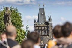 布拉格,捷克9月19日:查理大桥在布拉格, t 图库摄影