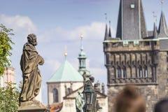 布拉格,捷克9月19日:查理大桥在布拉格, t 库存图片