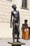 布拉格,捷克- 2015年9月02日:雕塑照片  库存图片