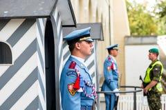 布拉格,捷克- 2016年9月04日:总统护卫队 免版税库存照片