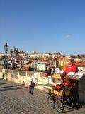布拉格,捷克- 2012年11月13日:从查尔斯B的看法 免版税库存图片