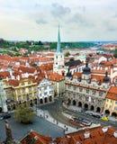 布拉格,捷克- 2017年4月18日:C的一点镇中心 库存图片