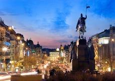 布拉格,捷克- 2014年10月25日:St Wensceslas雕象, Ne 免版税库存图片