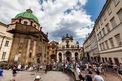 布拉格,捷克- 7月18 :著名Salv外视图  库存图片