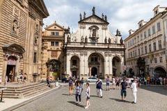 布拉格,捷克- 7月18 :著名Salv外视图  免版税图库摄影