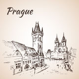 布拉格,捷克-老镇中心 免版税库存照片