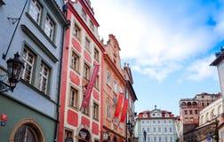 布拉格,捷克- DEC 23 :Tradi美好的街道视图  免版税库存照片