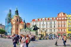 布拉格,捷克REPUBLIC-SEPTEMBER 12日2015年:圣尼古拉斯教会  免版税图库摄影