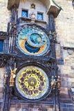 布拉格,捷克republik :天文学时钟 图库摄影