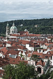 布拉格,顶视图 免版税图库摄影
