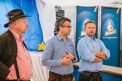 布拉格, 2017年9月23日:传统德国啤酒节日慕尼黑啤酒节的庆祝在捷克 三 库存照片