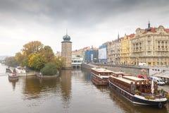 布拉格 伏尔塔瓦河 免版税库存图片