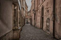 布拉格-历史街道 库存照片