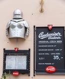 布拉格 咖啡馆菜单 免版税库存图片