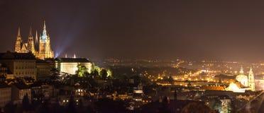 布拉格-夜概要 免版税图库摄影