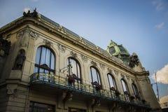 布拉格-市政议院 库存图片