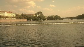 从布拉格-捷克小船的看法  股票视频