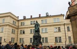 布拉格;捷克;2017年10月18日;查尔斯博物馆Bri 免版税库存照片