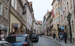 布拉格;捷克;2017年10月18日;Nerudova的一个看法 免版税库存图片
