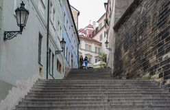布拉格;捷克;2017年10月18日;shody的Radnicke和两 库存图片