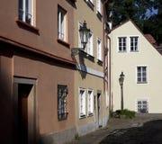 布拉格-新的世界季度 免版税库存照片