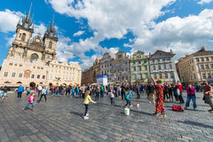 布拉格- 2014年5月9日 库存图片