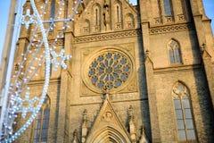 布拉格- 12月07 :圣徒Ludmil的外部的细节 图库摄影