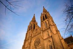 布拉格- 12月07 :圣徒Ludmila教会, 2016年在布拉格, C 免版税库存照片