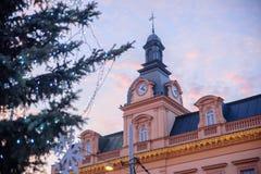 布拉格- 12月07 :在一传统bui的圣诞节装饰 免版税库存图片