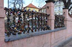 布拉格- 2月23 :恋人地方在布拉格 免版税库存照片