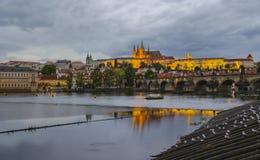 布拉格-查尔斯桥梁,捷克 免版税图库摄影