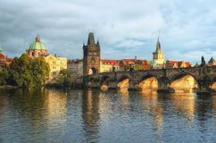 布拉格-查尔斯桥梁,捷克 库存照片