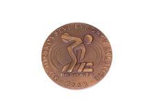布拉格1978年竞技欧洲冠军参与奖牌,正面 科沃拉,芬兰06 09 2016年 免版税图库摄影