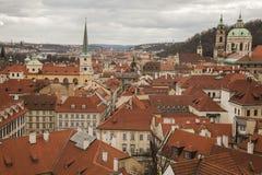 布拉格-红色屋顶 免版税库存照片