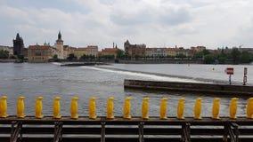 布拉格黄色企鹅在布拉格 免版税图库摄影