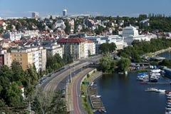 布拉格- Podoli季度 库存图片