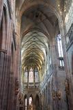 布拉格` s哥特式珠宝,圣Vitus大教堂内部  库存照片