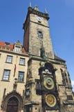 布拉格Orloj,老时钟机器 免版税图库摄影