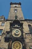 布拉格Orloj,老时钟机器 免版税库存图片
