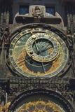 布拉格Orloj,老时钟机器 库存照片