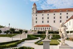 布拉索夫城堡和庭院,斯洛伐克 图库摄影