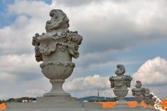 布拉索夫城堡的庭院庭院在斯洛伐克 免版税库存照片