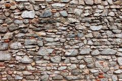 布拉索夫城堡石墙背景 免版税库存照片