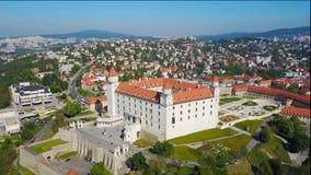 布拉索夫城堡鸟瞰图 股票录像