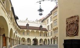 布拉索夫大厅老城镇 库存照片