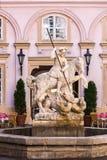 布拉索夫斯洛伐克 圣乔治雕象 免版税库存图片