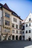 布拉索夫斯洛伐克 城镇厅庭院  免版税库存照片